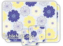 Blue Flowers table Mats