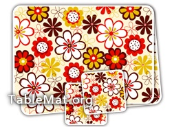 Brown Flowers Table Mats
