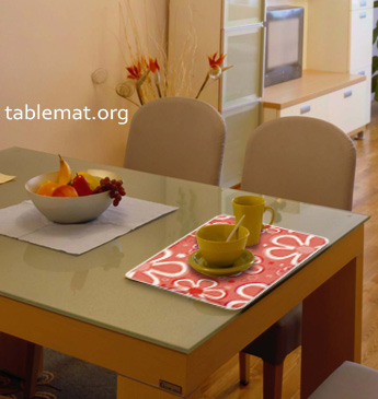 Multi Colored Flowers Table Mats