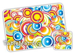 Multi Colored stripes table Mats